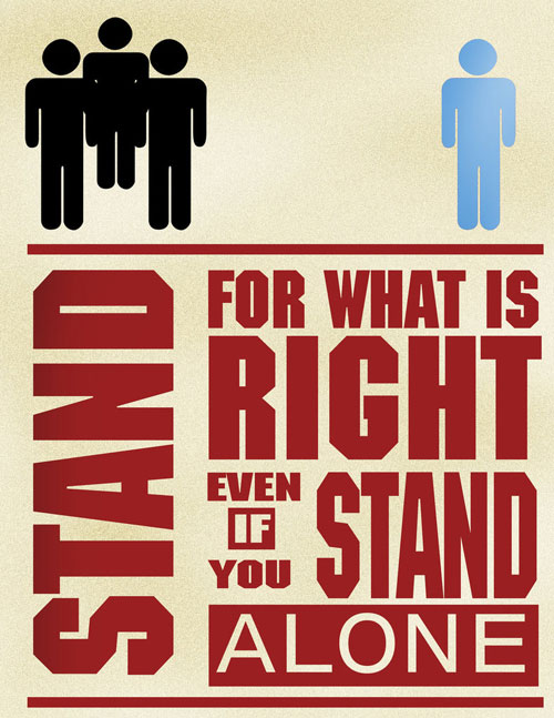 stand for what is right today s word